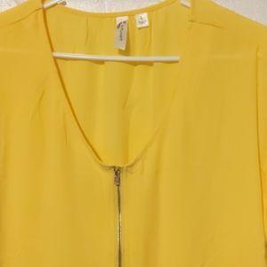 Tops - Yellow zippered shirt